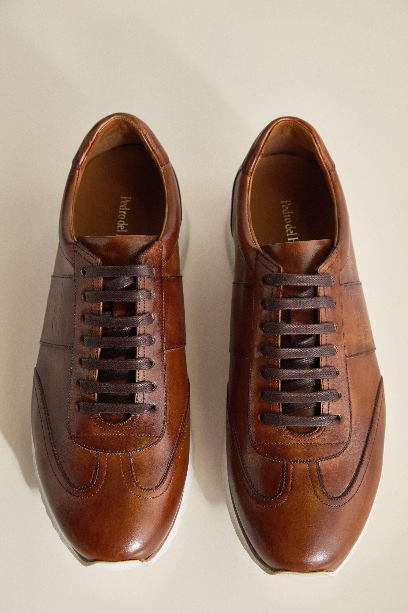 Sneaker piel cepillada   Zapatos   Pedro del Hierro