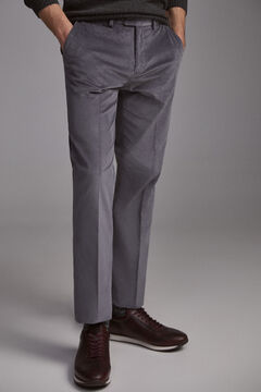 Pedro del Hierro Regular fit premium flex corduroy chinos Grey