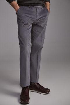 Pedro del Hierro Pantalón chino pana premium flex regular Grey