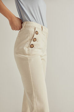 Pedro del Hierro Natural colour denim straight cut jeans Ecru
