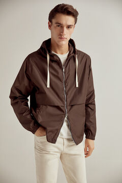 Pedro del Hierro Hooded jacket Brown