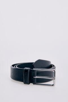 Pedro del Hierro Embossed leather belt Black