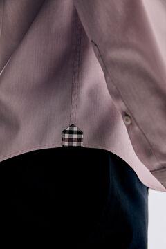 Pedro del Hierro Camisa lisa soft non iron algodão Vermelho