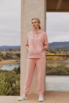 Pedro del Hierro Soft feel hooded sweatshirt Pink