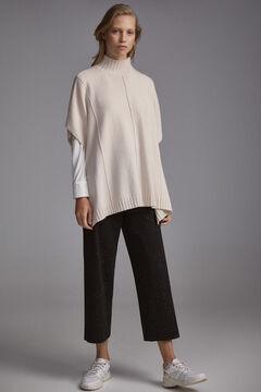 Pedro del Hierro Mock turtleneck poncho Brown