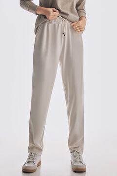 Pedro del Hierro Soft feel melange trousers Ecru