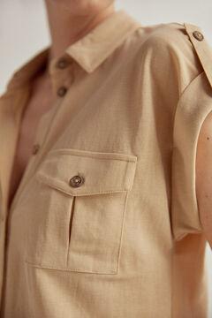 Pedro del Hierro Piqué safari shirt Brown