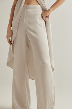 Pedro del Hierro Silver flared trousers Grey
