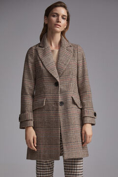 Pedro del Hierro Checked masculine cut coat Several