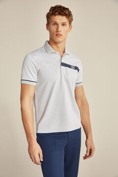 Pedro del Hierro Short-sleeved polo shirt Grey