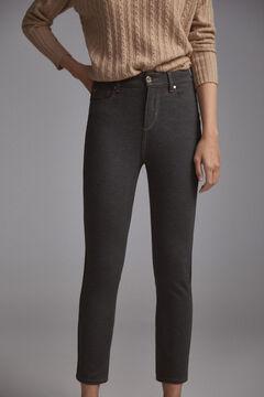 Pedro del Hierro Jersey-knit skinny jeans Grey