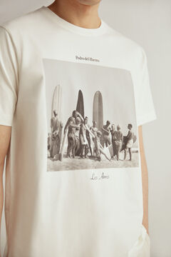 Pedro del Hierro Short-sleeved T-shirt Ecru