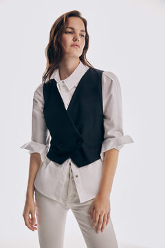 Pedro del Hierro Fitted waistcoat Blue