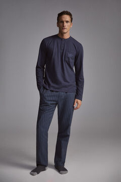 Pedro del Hierro Striped pyjamas Blue