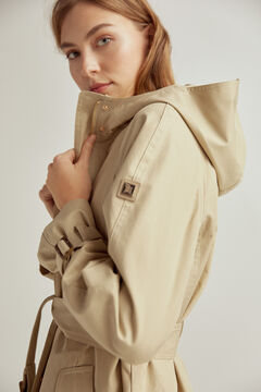 Pedro del Hierro Cotton hooded parka Beige