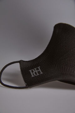 Pedro del Hierro Plain jersey-knit face mask Black