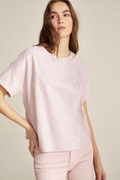 Pedro del Hierro Camiseta bordada Pink