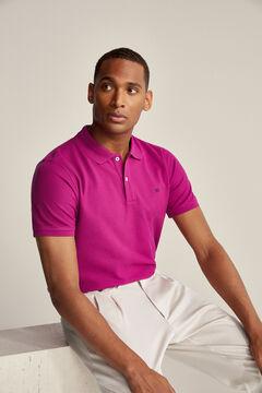 Pedro del Hierro Essential short-sleeved polo shirt Pink