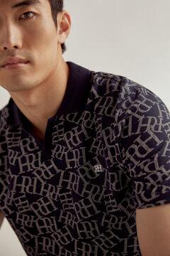 Pedro del Hierro Polo manga corta con logo PdH Blue