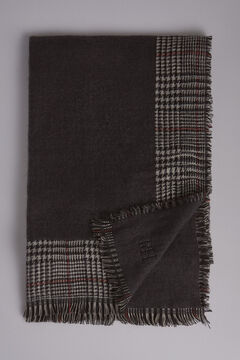 Pedro del Hierro Checked fantasy shawl Grey