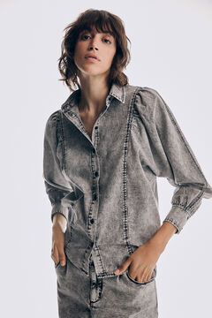 Pedro del Hierro 100% cotton denim shirt Grey