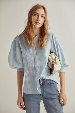 Pedro del Hierro Blouse with flounce Blue
