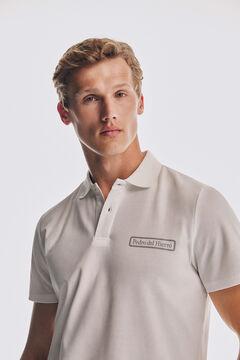 Pedro del Hierro Short-sleeved logo polo shirt White