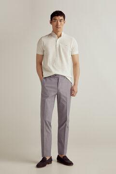 Pedro del Hierro Micro pattern regular fit trousers Blue