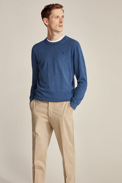 Pedro del Hierro Regular fit pima cotton chinos Beige