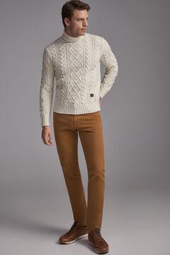 Pedro del Hierro Jeans premium flex 5 bolsos cor slim  Marrom