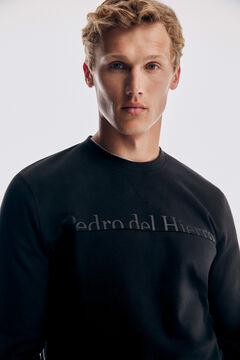 Pedro del Hierro Crew neck sweatshirt  Black