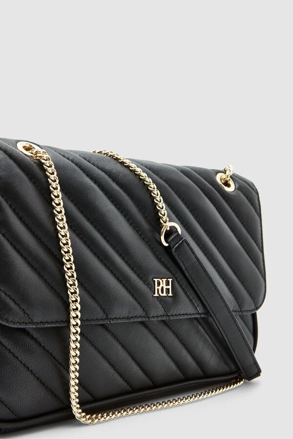 Pedro Del Hierro Quilted Shoulder Bag Black