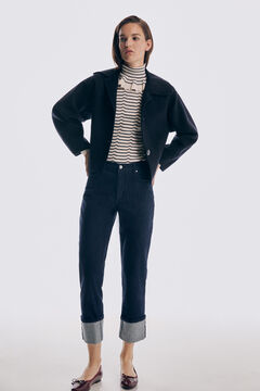 Pedro del Hierro Straight fit jeans with turn-up hems Blue