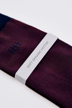 Pedro del Hierro Plain logo socks Red