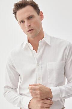 Pedro del Hierro White textured shirt White