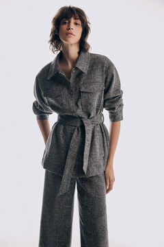 Pedro del Hierro Over garment in patterned fabric  Grey