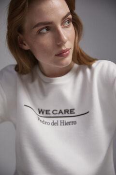 Pedro del Hierro Eco logo sweatshirt Beige