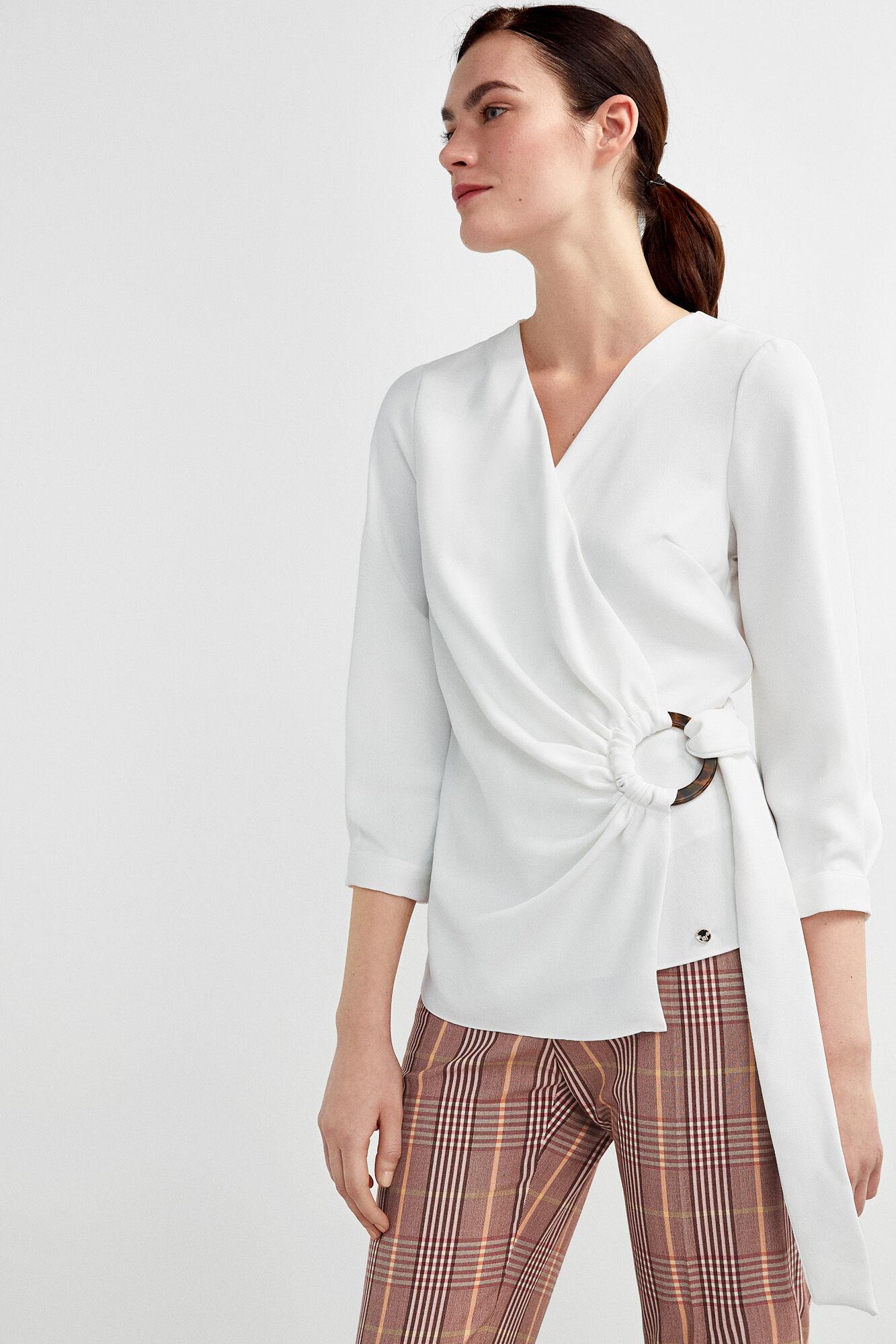 801e435e4 Wrap blouse with buckle   Blouses   Pedro del Hierro Man & Woman