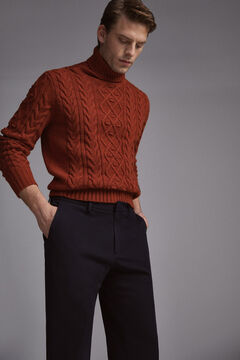 Pedro del Hierro Regular fit jersey-knit trousers Blue