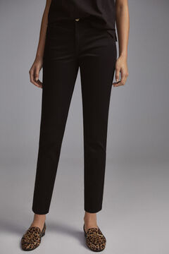 Pedro del Hierro Coloured satin push-up trousers Black