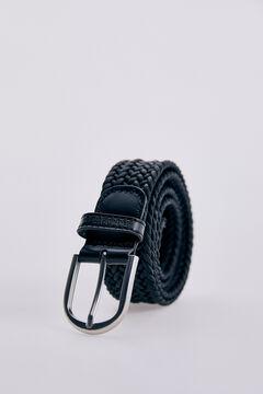 Pedro del Hierro Woven fabric belt Black