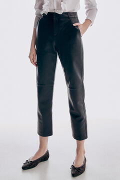 Pedro del Hierro Long nappa trousers Black