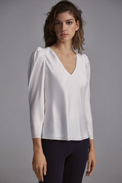 Pedro del Hierro Blouse with puffed sleeves Grey
