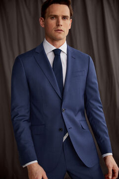 Pedro del Hierro Slim fit grey-blue blazer Blue