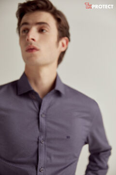 Pedro del Hierro Printed TX Protect shirt Blue