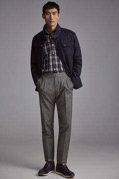 Pedro del Hierro Chinese trousers with fantasy tongs Grey