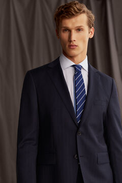 Pedro del Hierro Tailored fit striped blazer Blue