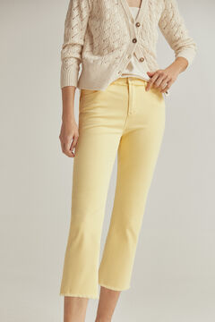 Pedro del Hierro Pantalón capri fit color Yellow