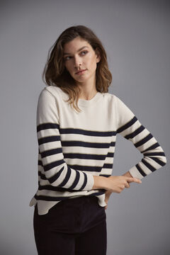 Pedro del Hierro Striped jumper Blue