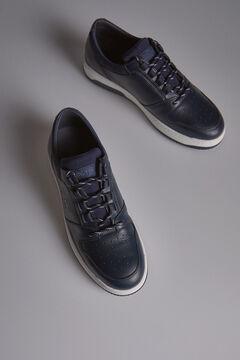 Pedro del Hierro Sneaker basket piel cepillada Azul